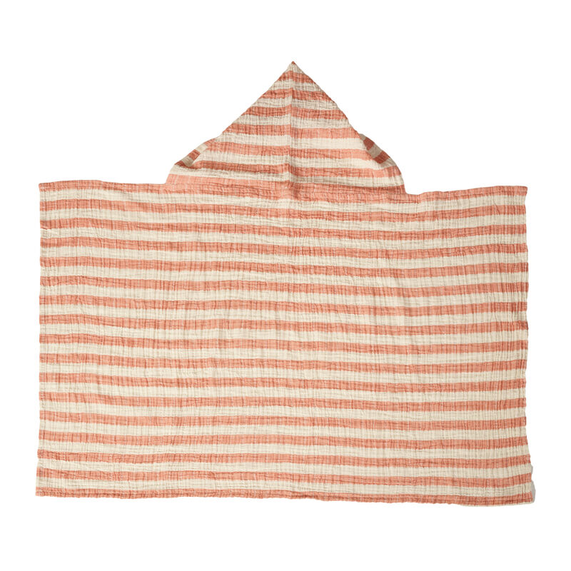 NATURAL - CAPE DE BAIN - STRIPES ABRICOT