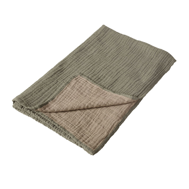 NATURAL - BLANKET/TOWEL R/V XL- KHAKI/BEIGE