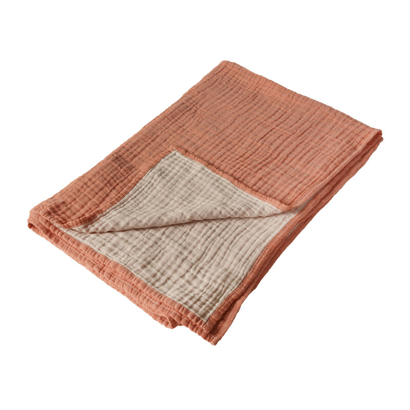 NATURAL - BLANKET/TOWEL R/V XL- ABRICO/ECRU