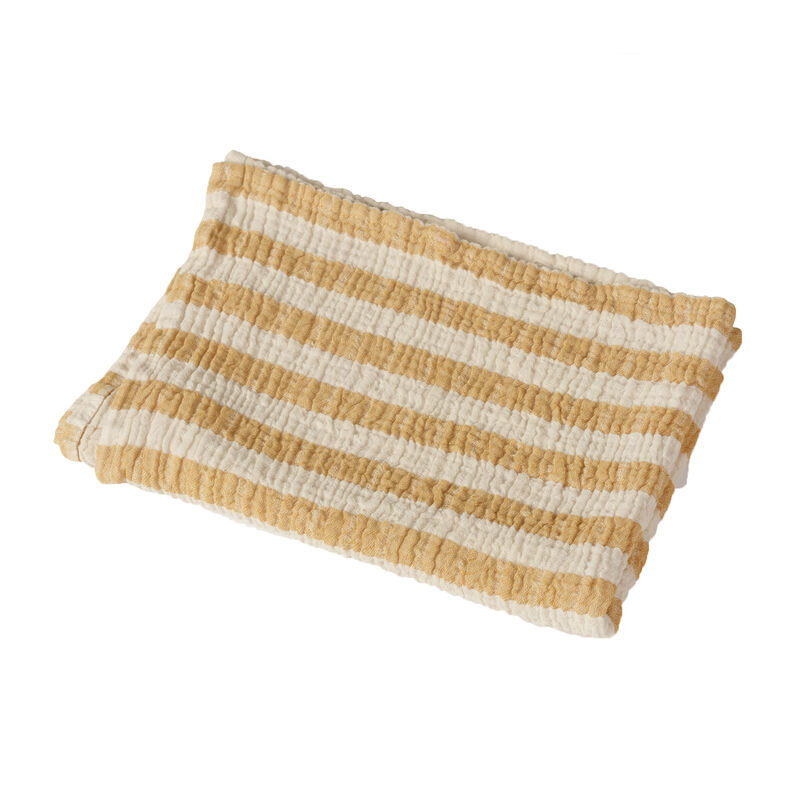 NATURAL - SERV/COUVERT STRIPES M - SAFFRAN