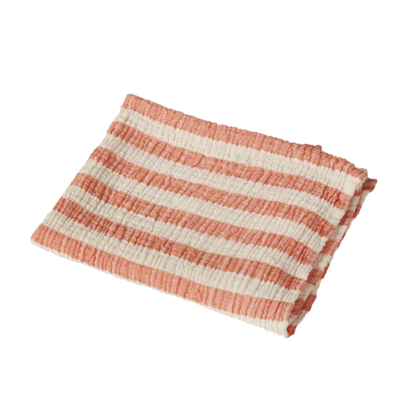 NATURAL - SERV/COUVERT STRIPES M - ABRICOT