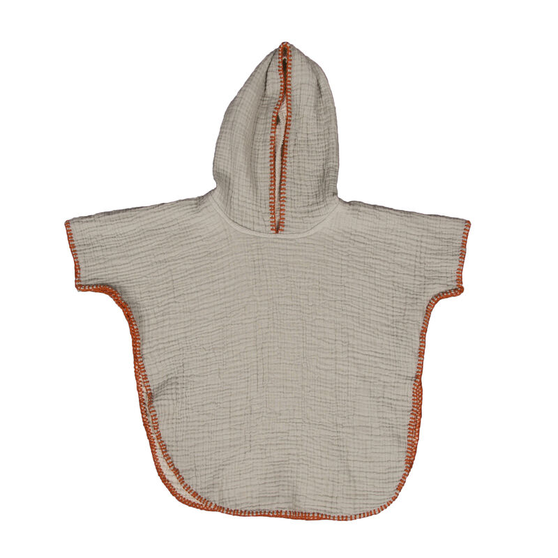 NATURAL - PONCHO KIDS 18M-3J - GREY/ECRU