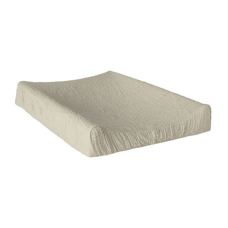 NATURAL - CHANGING PAD COVER R/V - GREY/ECRU