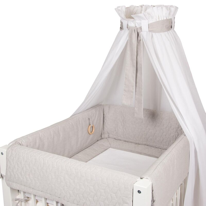 PLAYPEN CRADLE SET - SWEET GREY