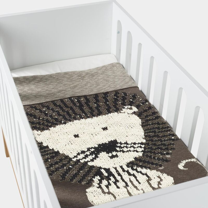 KNITTED BLANKET - 100*160 CM - LION