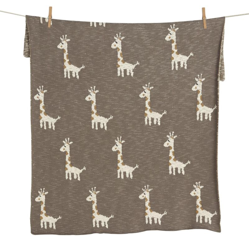 TRICOT - DEKENTJE - ON THE GO XL - GIRAFFE