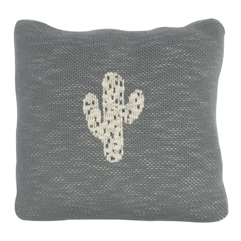 KNITTED CUSHION - 30*30 CM - CACTUS