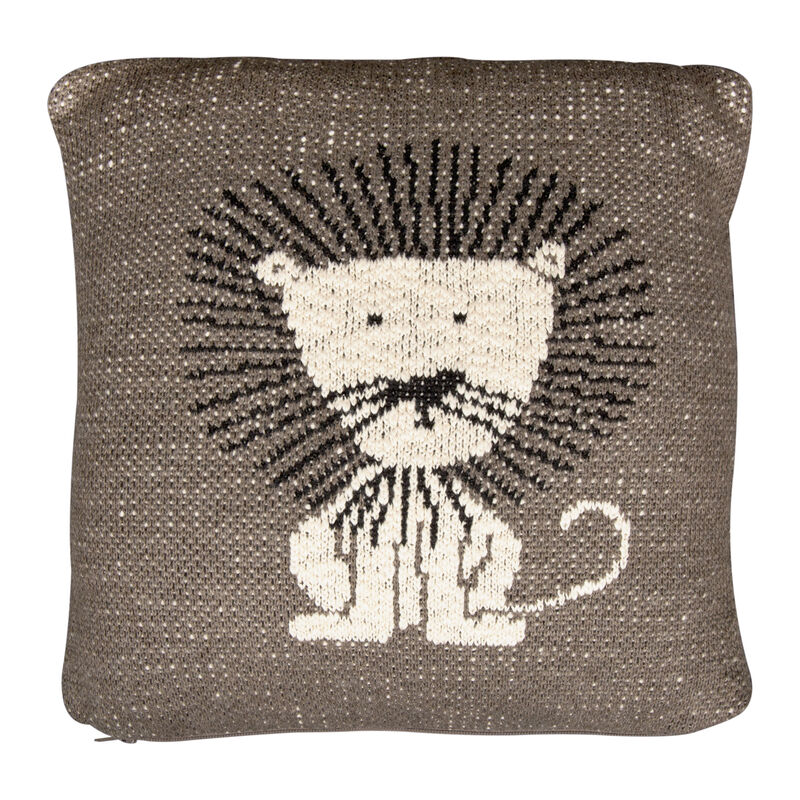 KNITTED CUSHION - 30*30 CM - LION