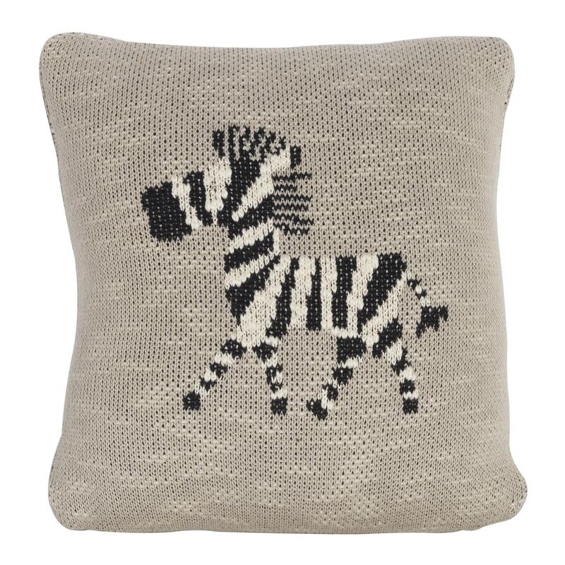 KNITTED CUSHION - 30*30 CM - ZEBRA