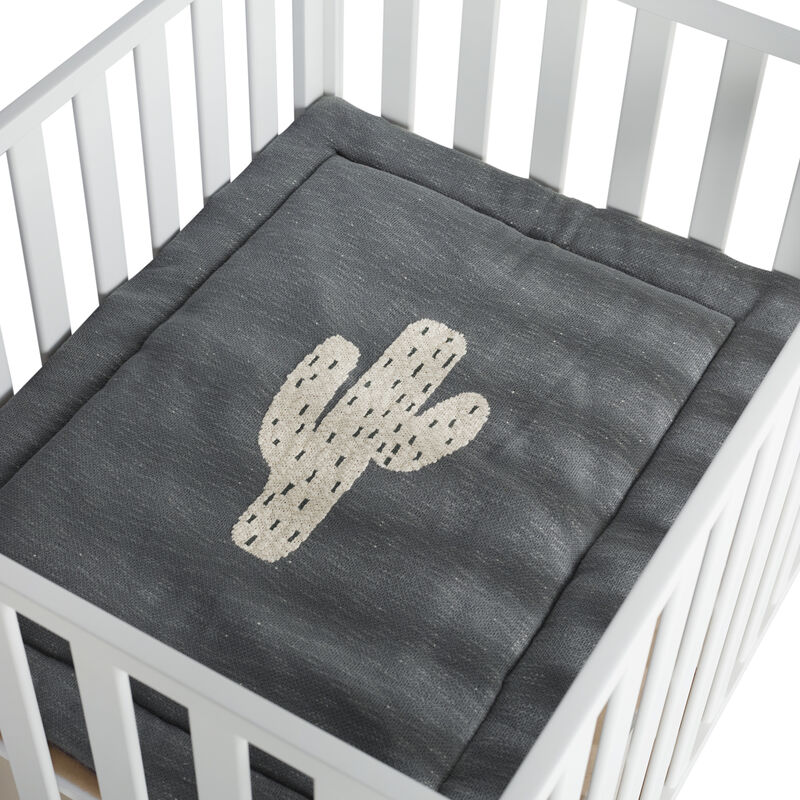 KNITTED PLAYPEN MAT - CACTUS