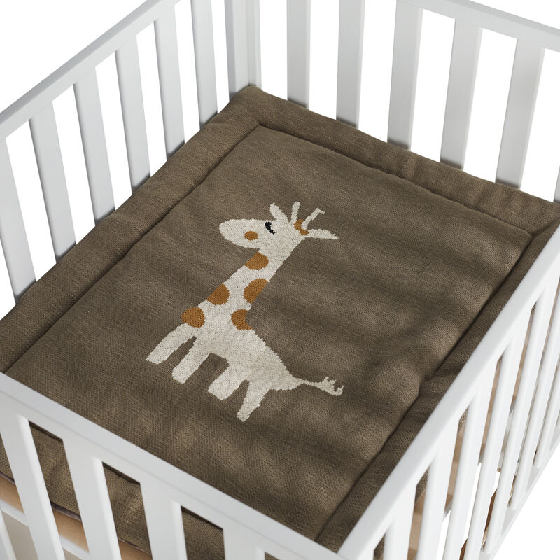 KNITTED PLAYPEN MAT - GIRAFFE