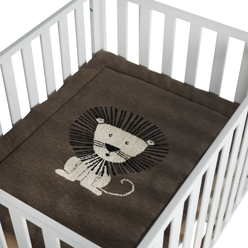KNITTED PLAYPEN MAT - LION