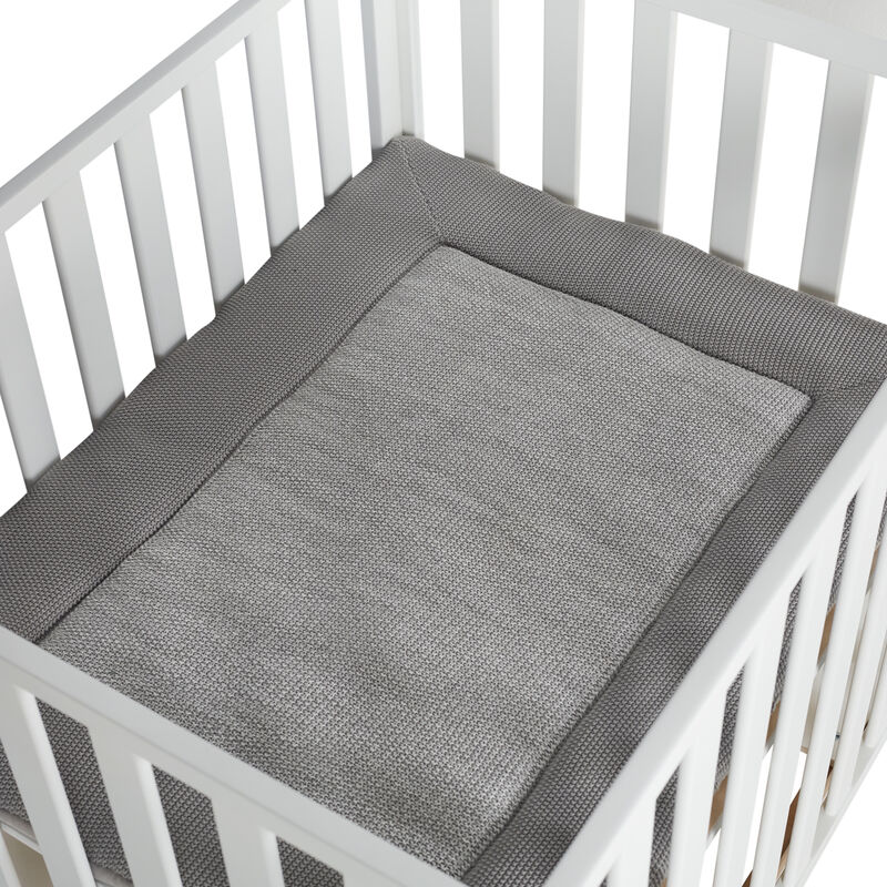 KNITTED PLAYPEN MAT - SOFT GREY
