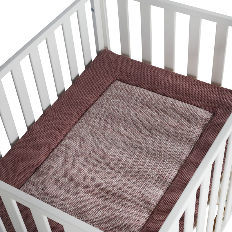 KNITTED PLAYPEN MAT - OLD PINK
