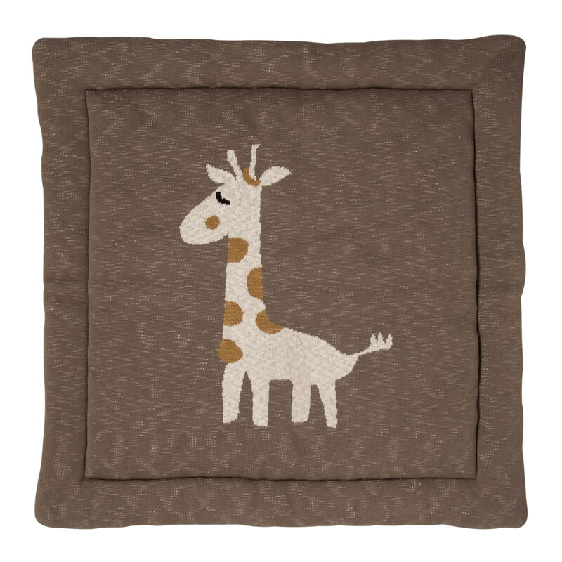KNITTED - PLAY CARPET - 100*100CM - GIRAFFE