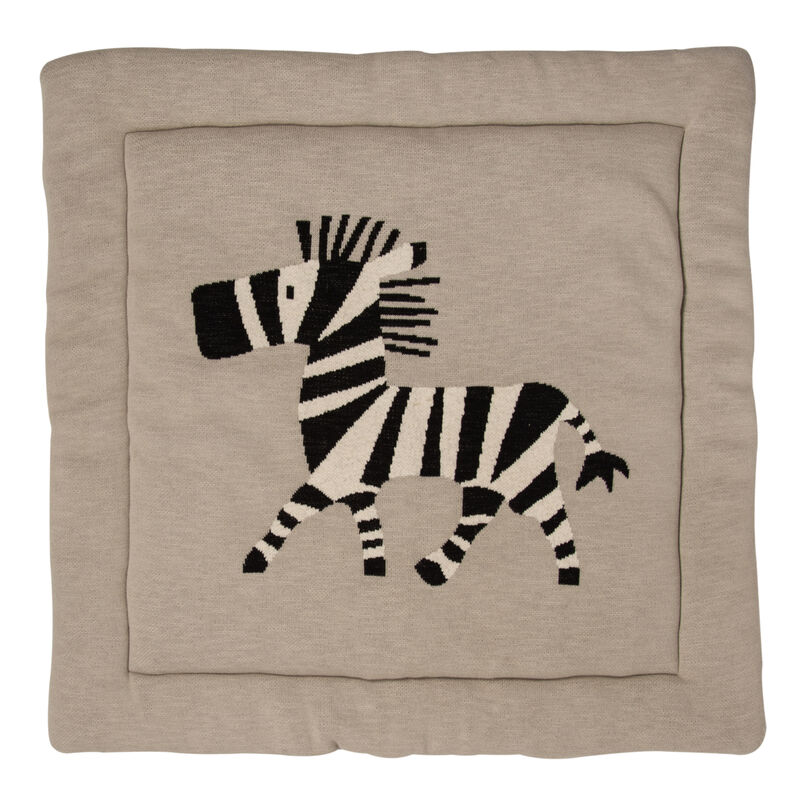 KNITTED - PLAY CARPET - 100*100CM - ZEBRA