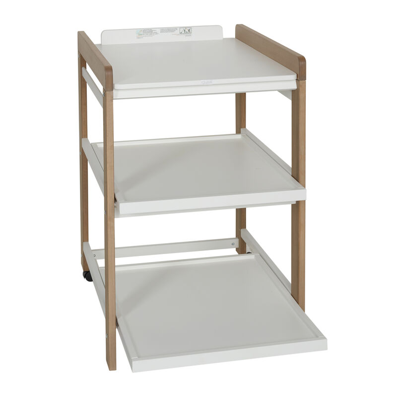 CHANGING TABLE COMFORT - WHITE - NATUREL