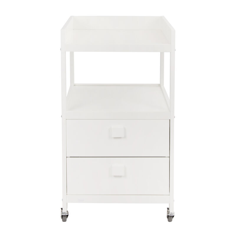 CHANGING TABLE WITH 2 DRAWERS - WHITE