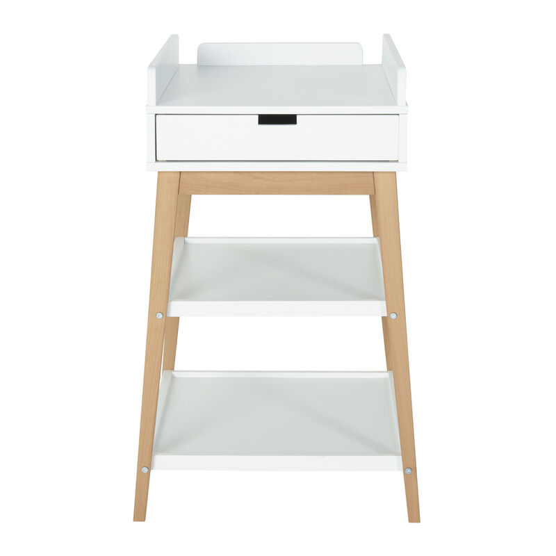CHANGING TABLE - HIP + DRAWER - WHITE/NATUREL