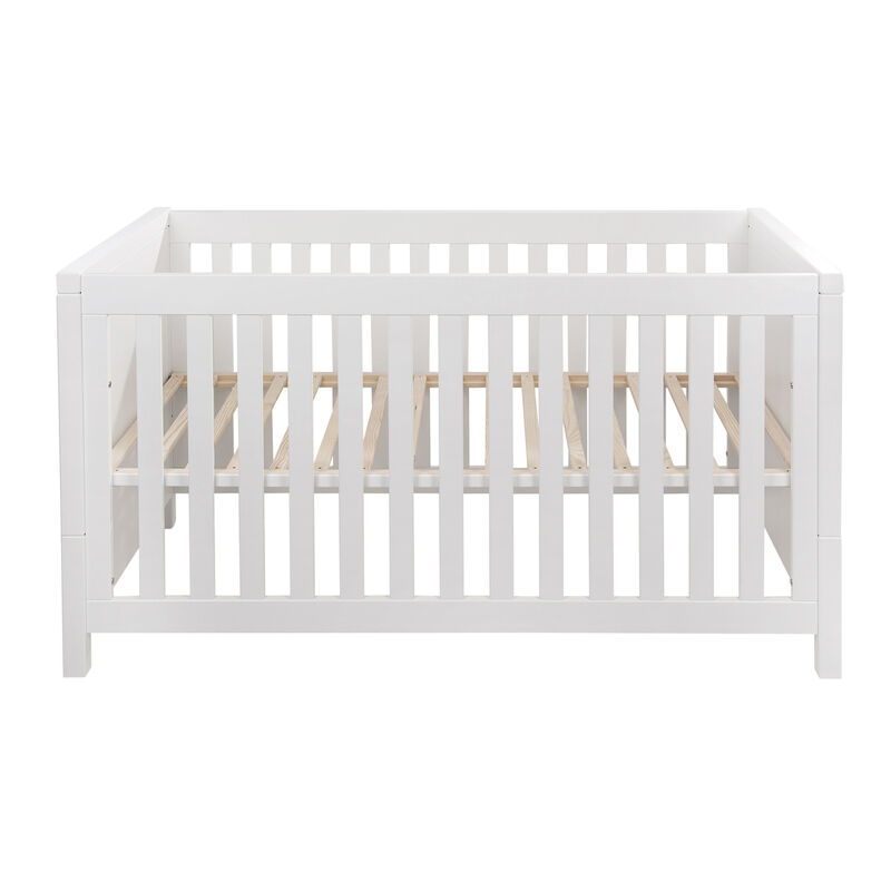 STRIPES COT 140 * 70 + JUNIOR KIT - WHITE