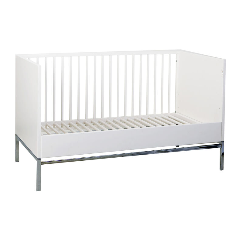 STRETTO COT 140*70 CM + JUNIOR - WHITE&CHROM