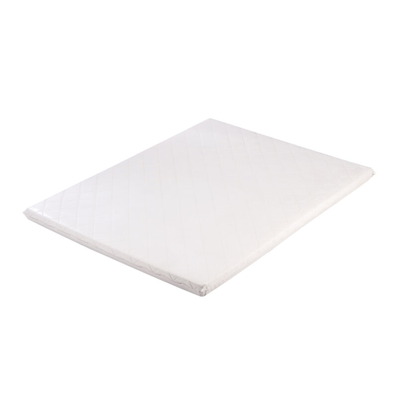 PLAYPEN MAT PVC - QUILTED - WHITE