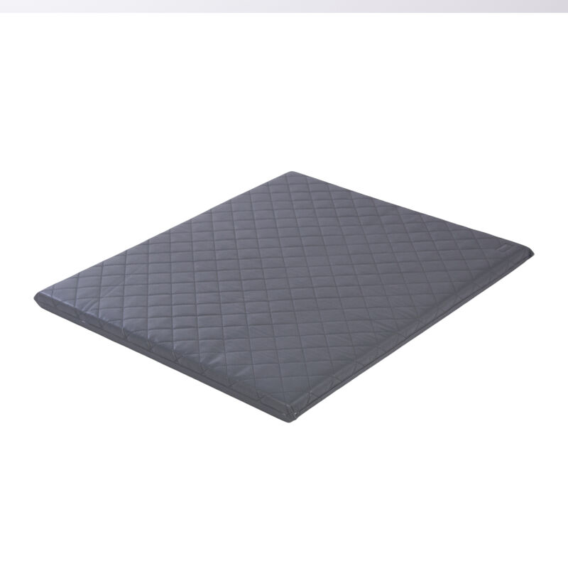 PLAYPEN MAT PVC - QUILTED - DARK GREY