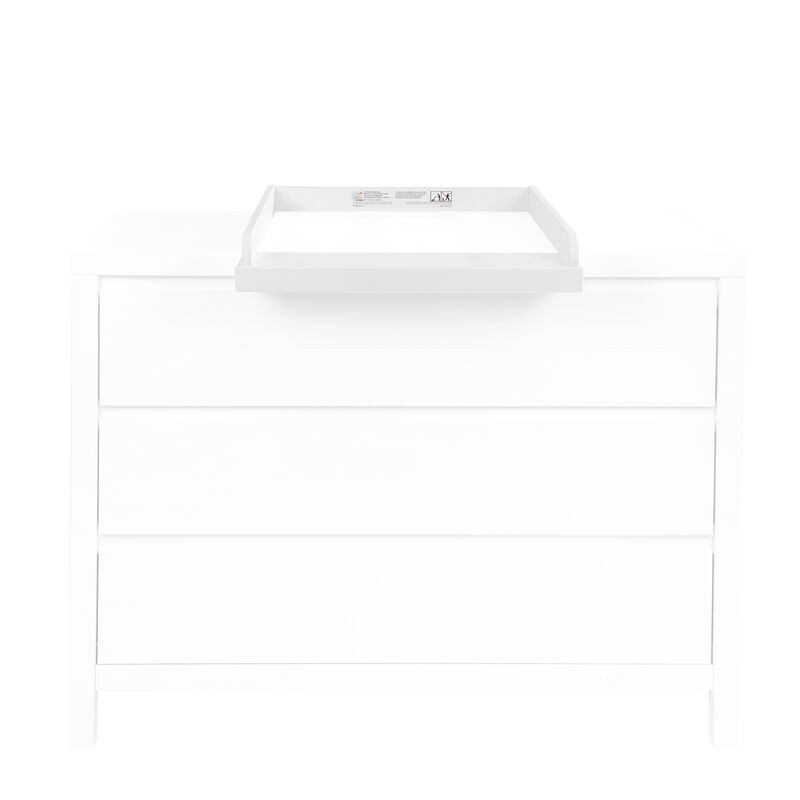STRIPES EXTENSION CHEST OF DRAWERS WHITE