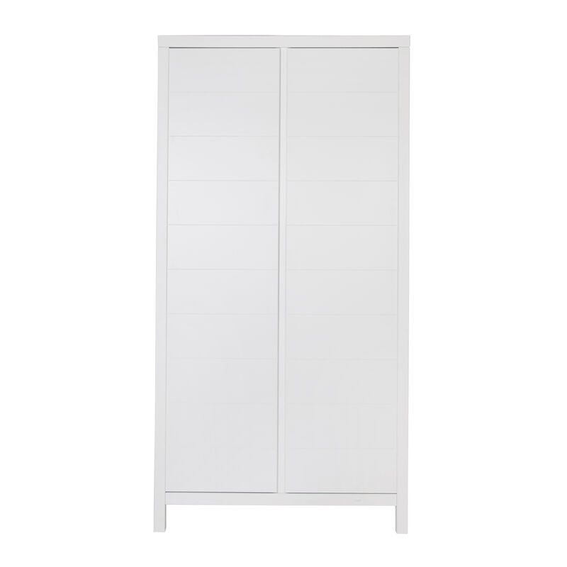 STRIPES WARDROBE 2 DOORS - WHITE