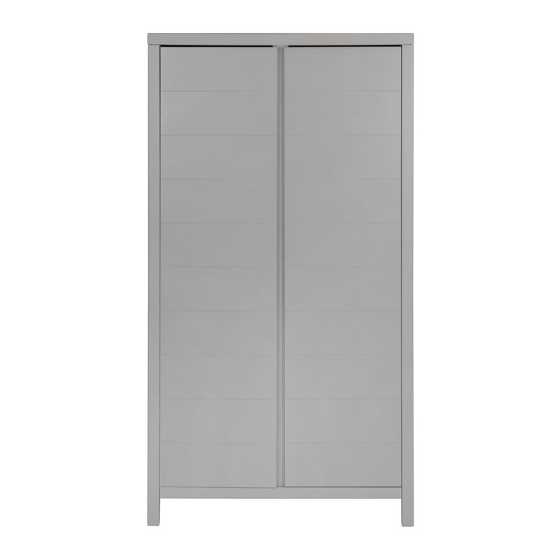 STRIPES WARDROBE 2 DOORS - GRIFFIN GREY