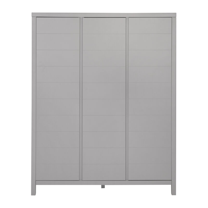 STRIPES WARDROBE 3 DOORS - GRIFFIN GREY