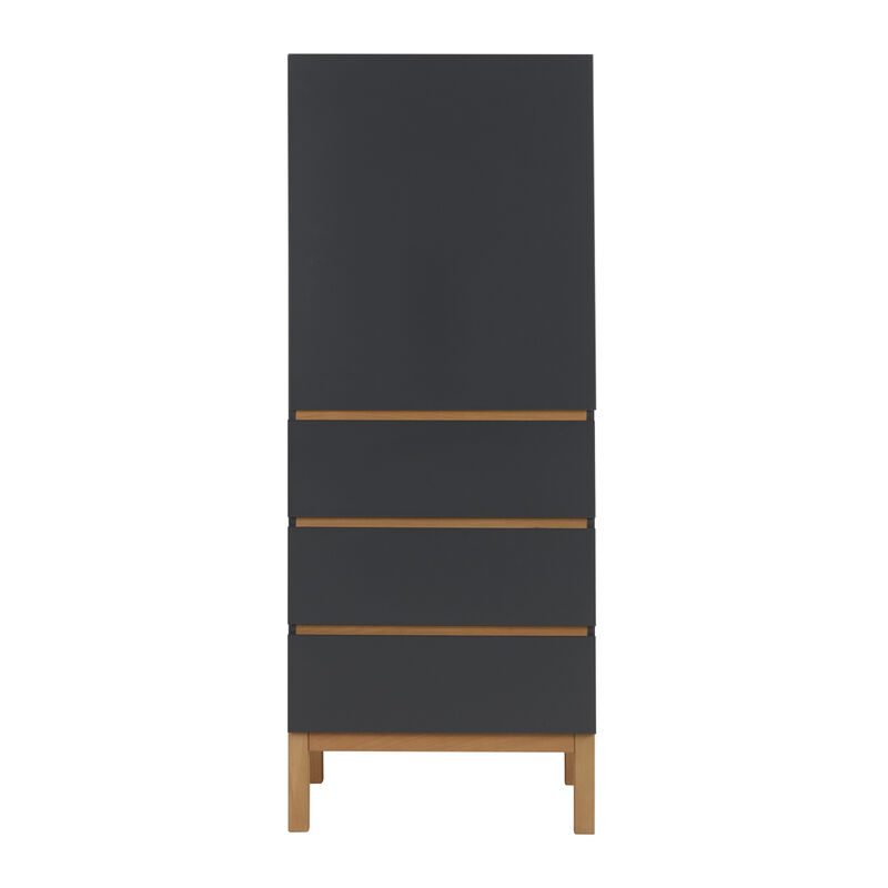 INDIGO WARDROBE 1 DOOR + 3 DRAW - MOONSHADOW
