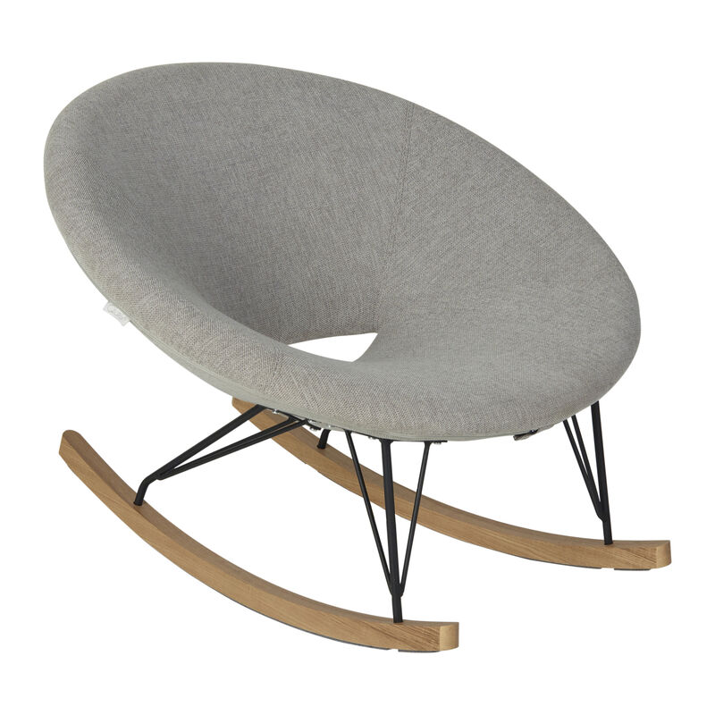 ROCKING ADULT O CHAIR DE LUXE - SAND GREY