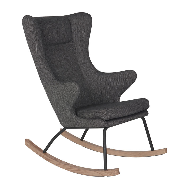 ROCKING ADULT CHAIR DE LUXE - BLACK