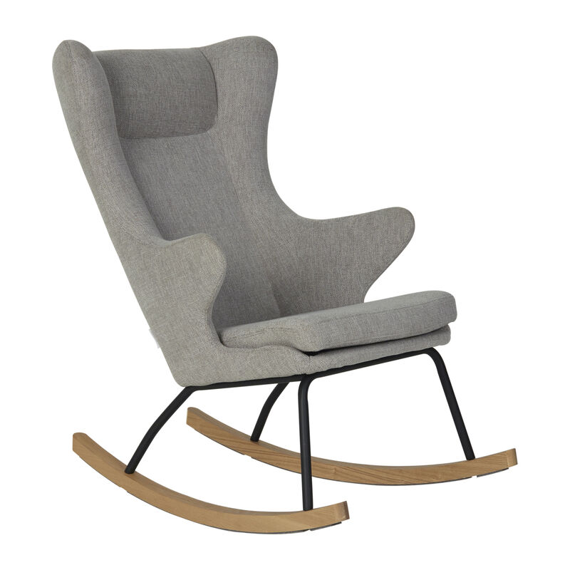ROCKING ADULT CHAIR DE LUXE - SAND GREY