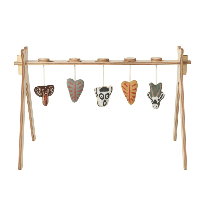TIPI -  ACTIVITY ARCH  + 5 KNITTED ETHNIC TOY