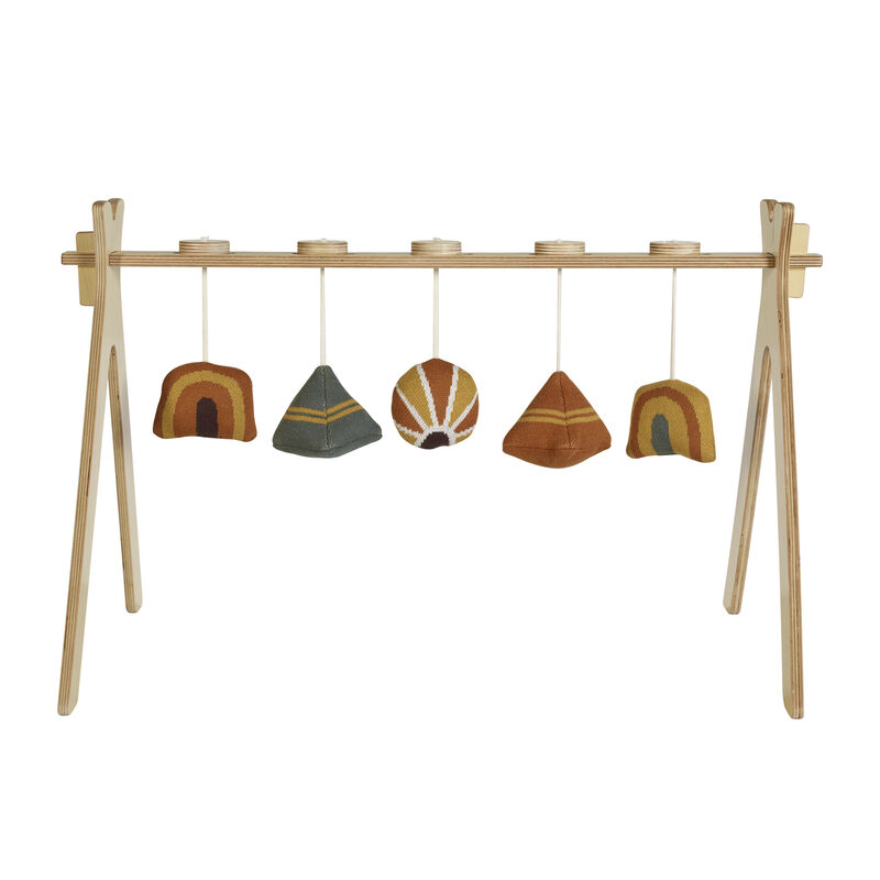 TIPI -  ACTIVITY ARCH + 5 KNITTED TOY - TERRA