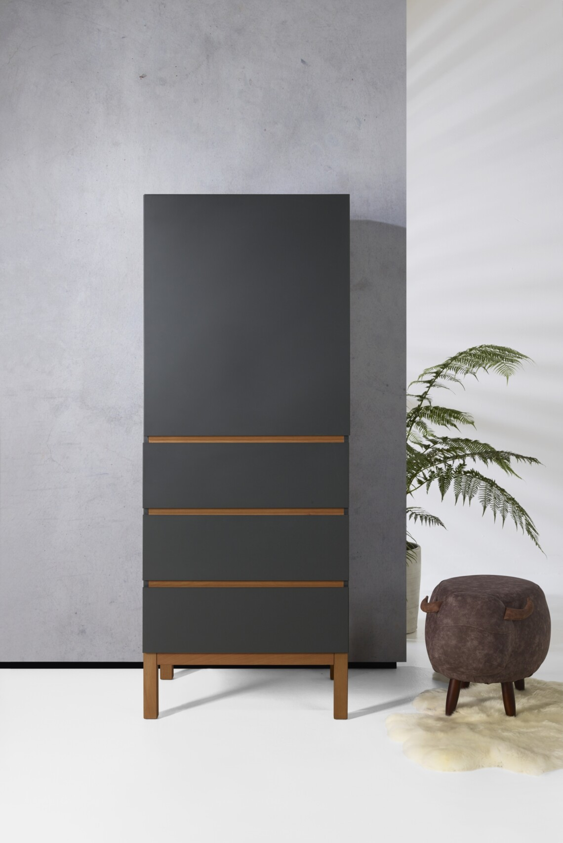 Indigo Moonshadow Wardrobe 1 Door