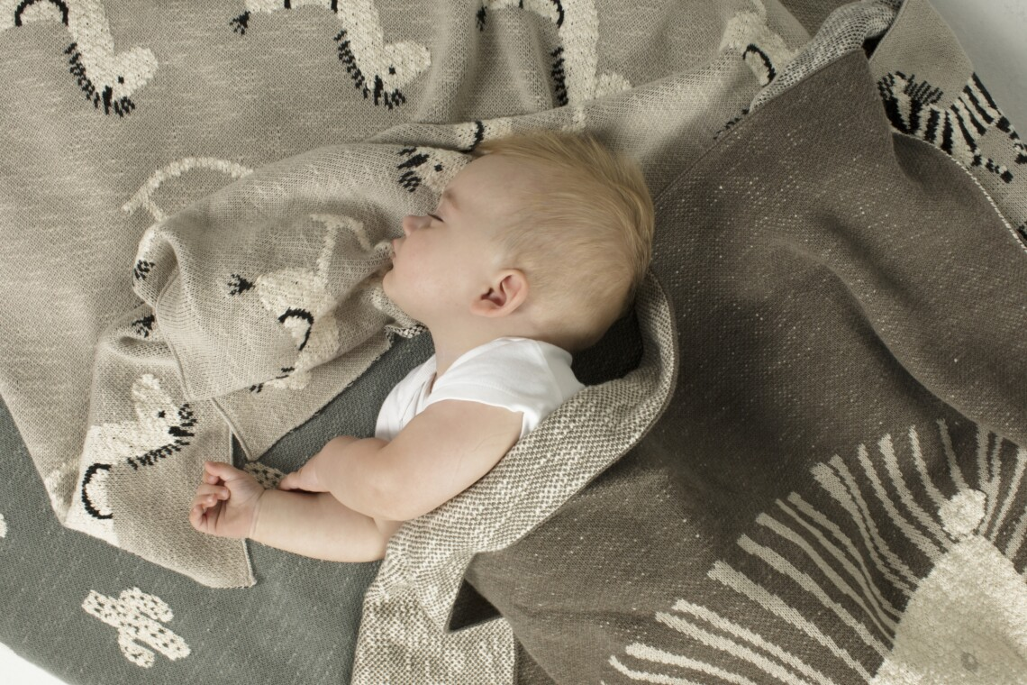 Knitted Textiles Sleeping Baby
